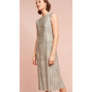 Anthropologie akemi + kin Corrina metallic dress L
